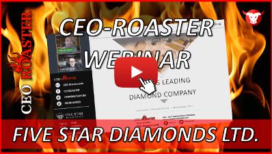 CEO-Roaster Five Star Diamonds Ltd STAR Luis Azevedo Michael Adams-400×225