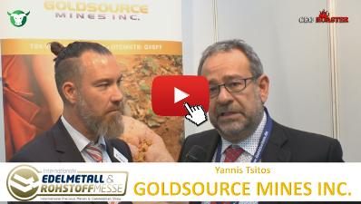 Thumb 400×225 GXS Goldsource Mines Inc Precious Metals Convention Munich 2017 Yannis Tsitos Michael Adams